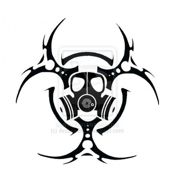 Biohazard clipart tribal Best Pin images cool gas