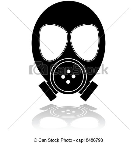 Gas Mask clipart vector Showing of Gas Icon a