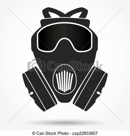 Gas Mask clipart vector Vector respirator Silhouette Vector csp22833857