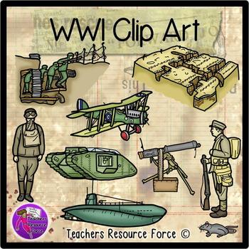 Military clipart ww1 soldier War World art clip Clip