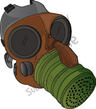 Gas Mask clipart ww1 War Gas mask Zone Lesson
