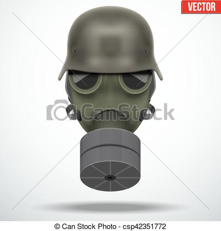 Gas Mask clipart ww2 Vectors helmet gas helmet Illustration