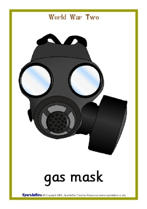 Gas Mask clipart ww2 War 2 SparkleBox and Two