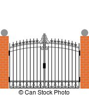 Gate clipart Illustrations free Iron Clipart 31