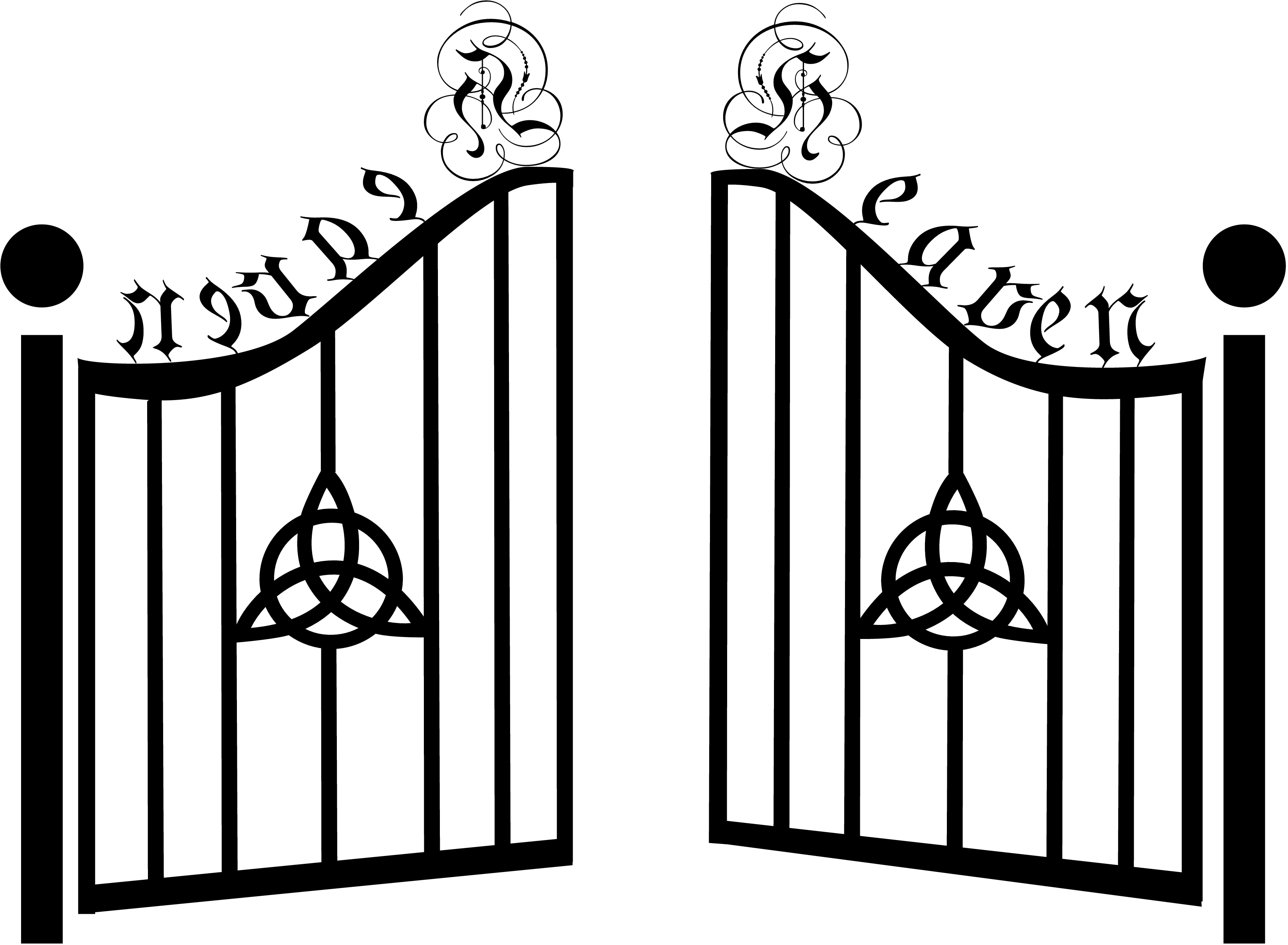 Gate clipart Garden gate Gate Clipart of