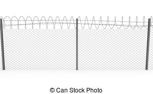 Wire clipart fencing wire Illustration Chainlink coil on of