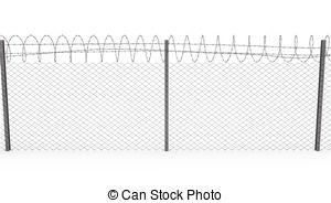 Wire clipart fencing wire Top coil Razor razor Wire