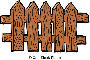 Brown clipart picket fence Gate Old gate fence