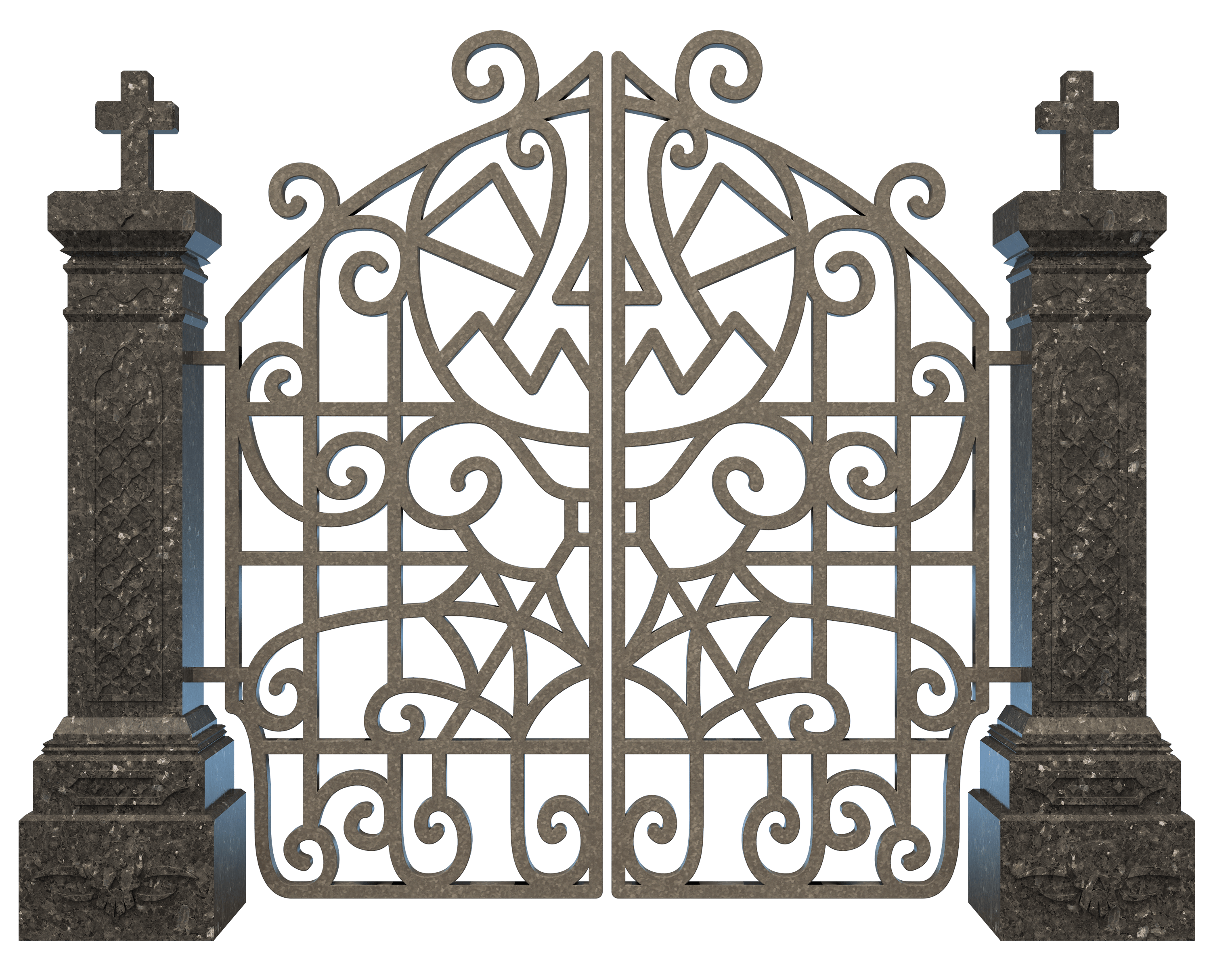 Grave clipart transparent PNG Iron StickPNG Cemetery Graveyard
