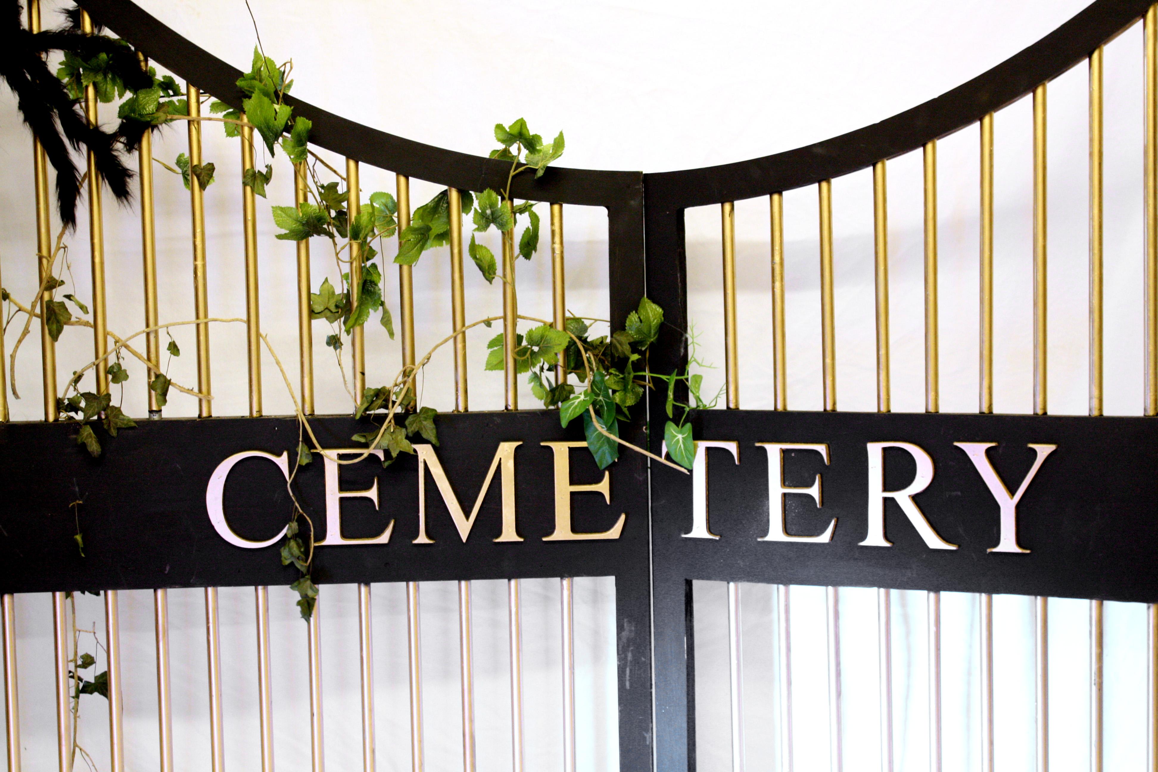 Gate clipart cemetery gates Gates hire cemetery prop