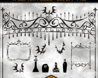 Gate clipart cemetery gates Tombstones Frames Halloween Gates PNG