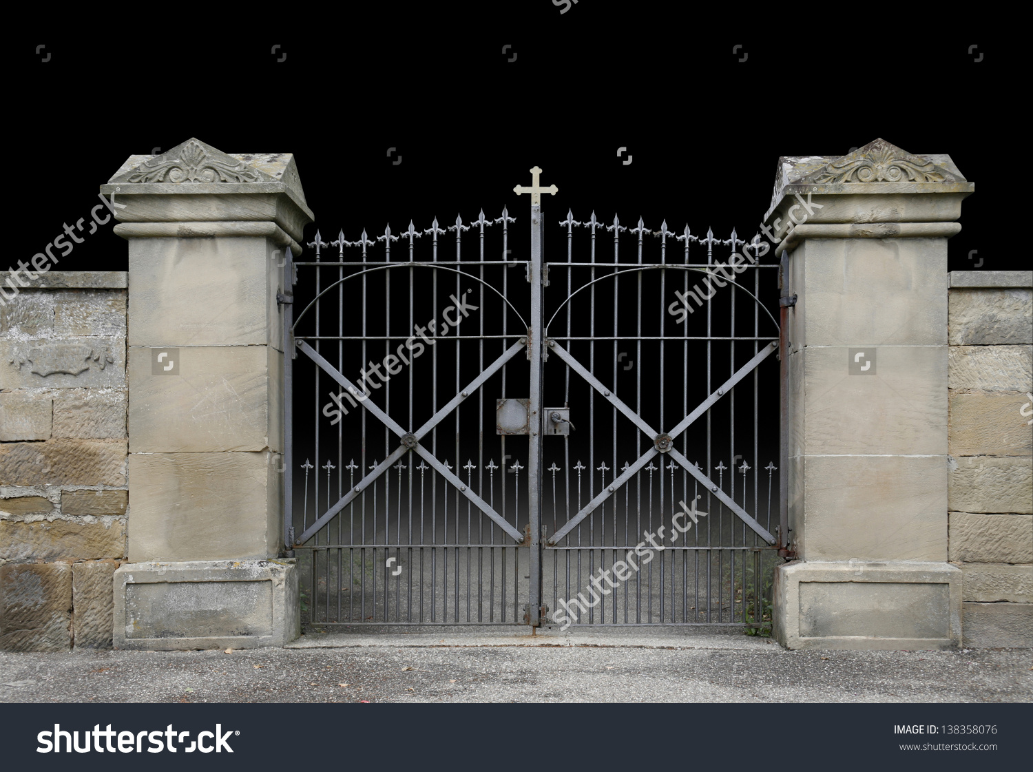 Gate clipart cemetery gates With graveyard cemetery of a