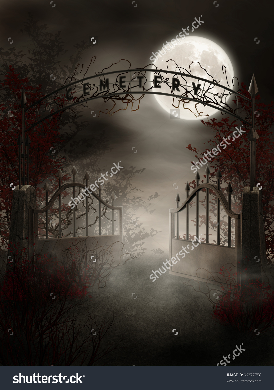 Gate clipart cemetery gates Cemetery clipart with and creepy