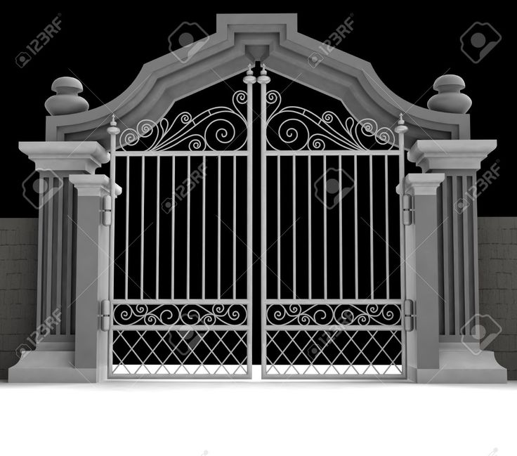 Gate clipart cemetery gates Gate Open Stock Royalty 15