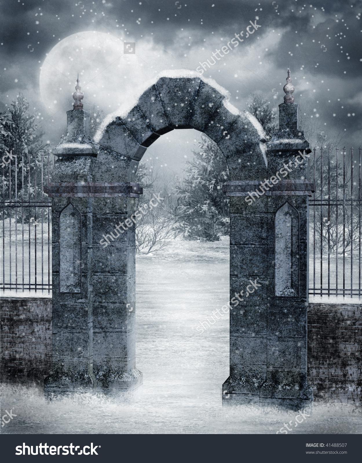 Gate clipart cemetery gates (15+) cemetery Gate Graveyard clipart
