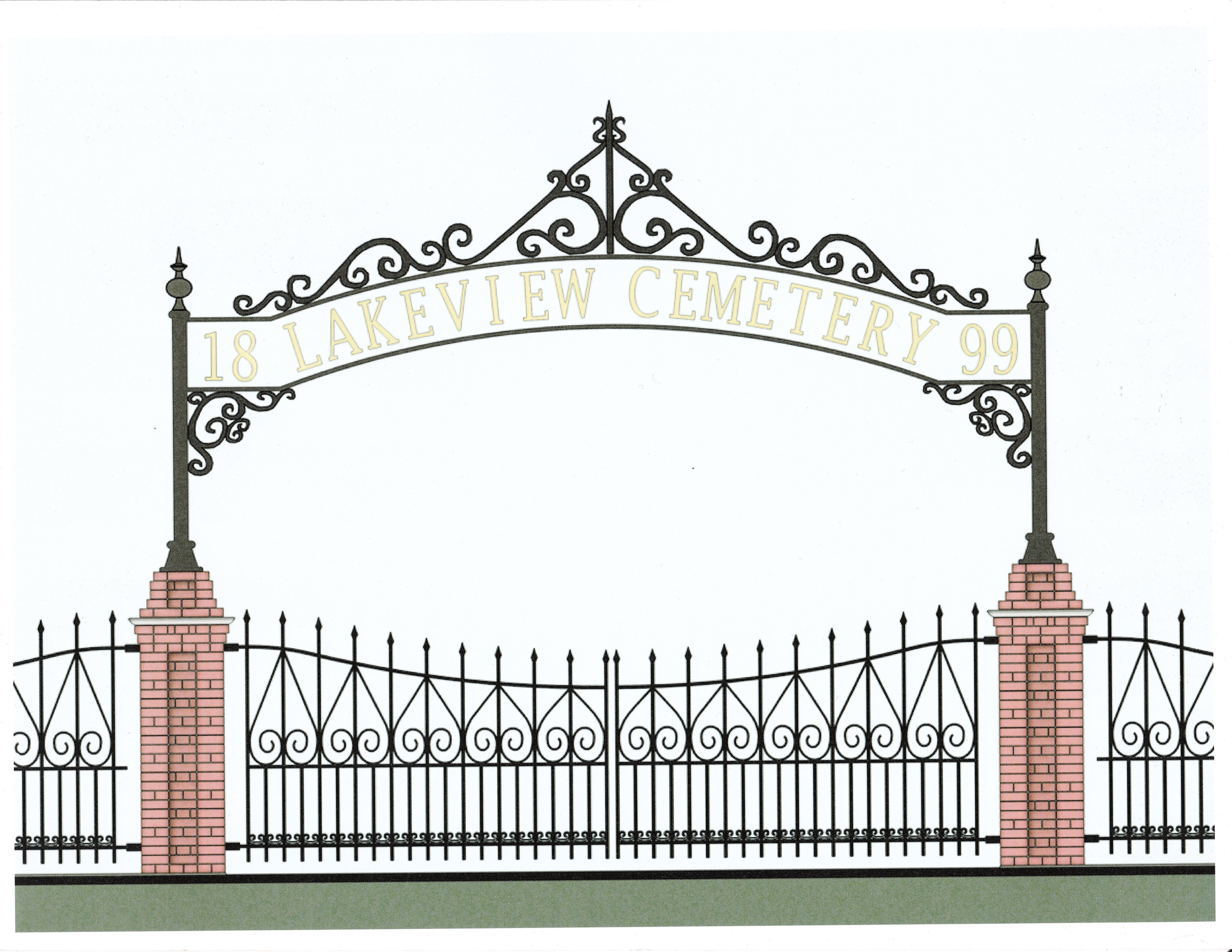 Gate clipart cemetery gates Rendering drawn task a the