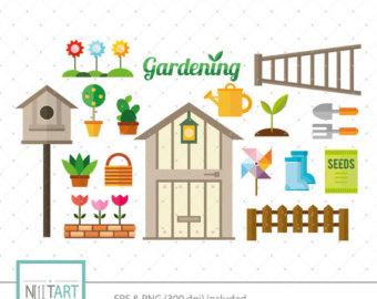 Gate clipart community garden Clip art Garden graphics vector