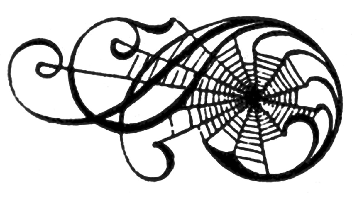 Classics clipart victorian scroll Spider+scrolls+vintage+image+graphicsfairy007lt 50+ The Halloween Images!