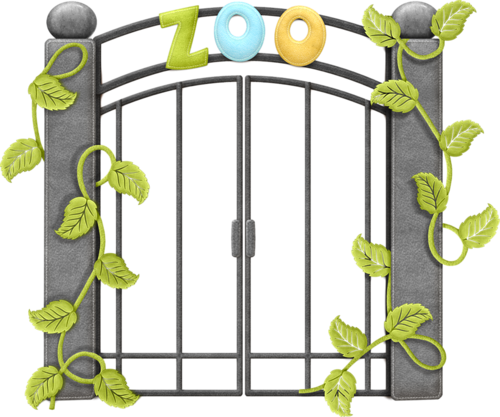 Gate clipart cute Clip png and Zoo Animals: