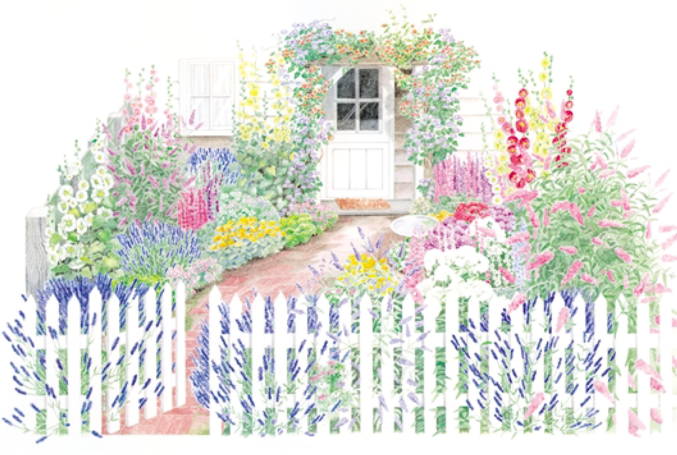 Gate clipart flower bed Garden Free  Garden Ideas