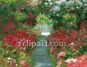 Gate clipart flower bed Garden A Picture Flower To