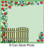 Gate clipart flower bed Gate gate  and gate