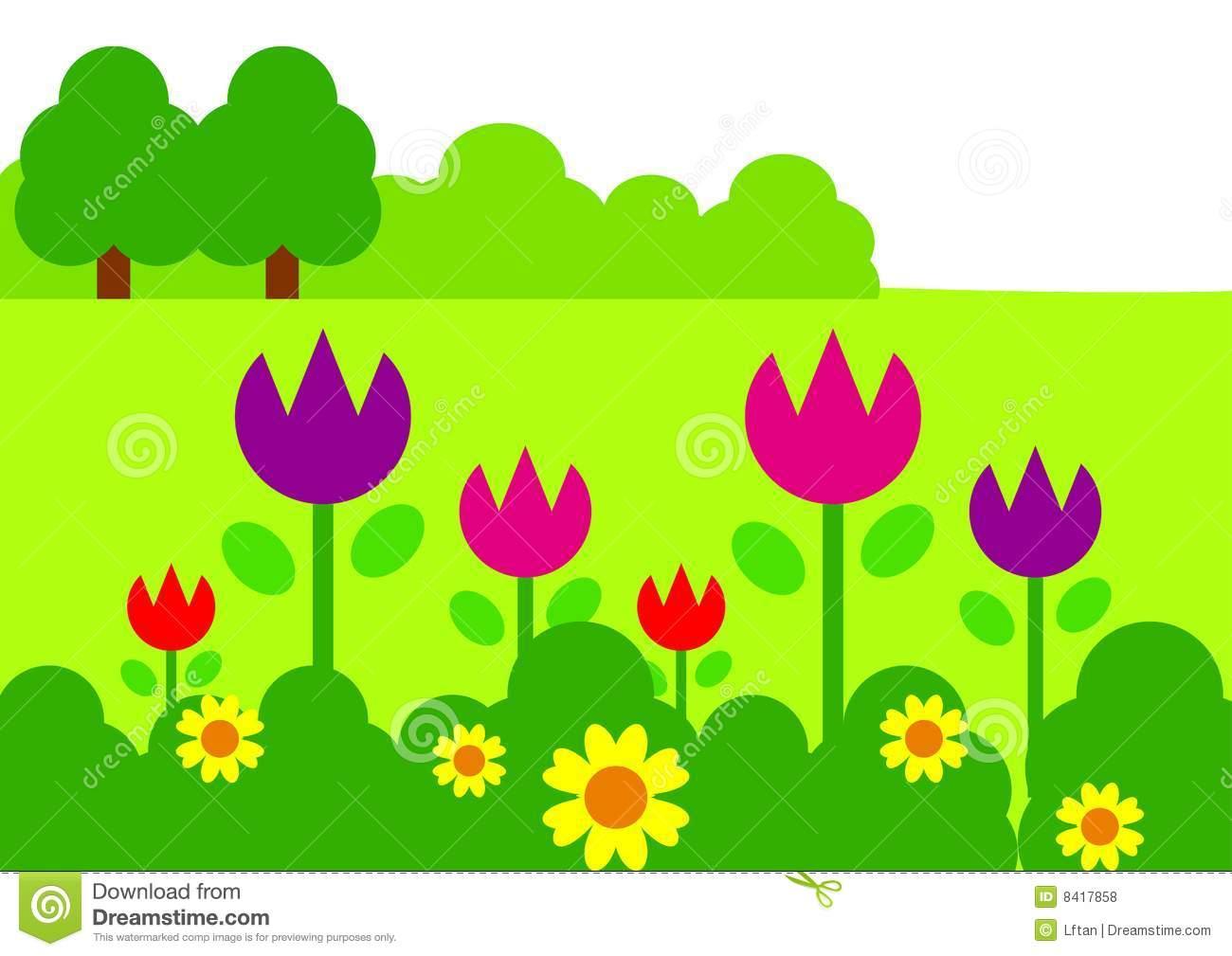 Gate clipart flower bed Garden Clip Garden art Valley