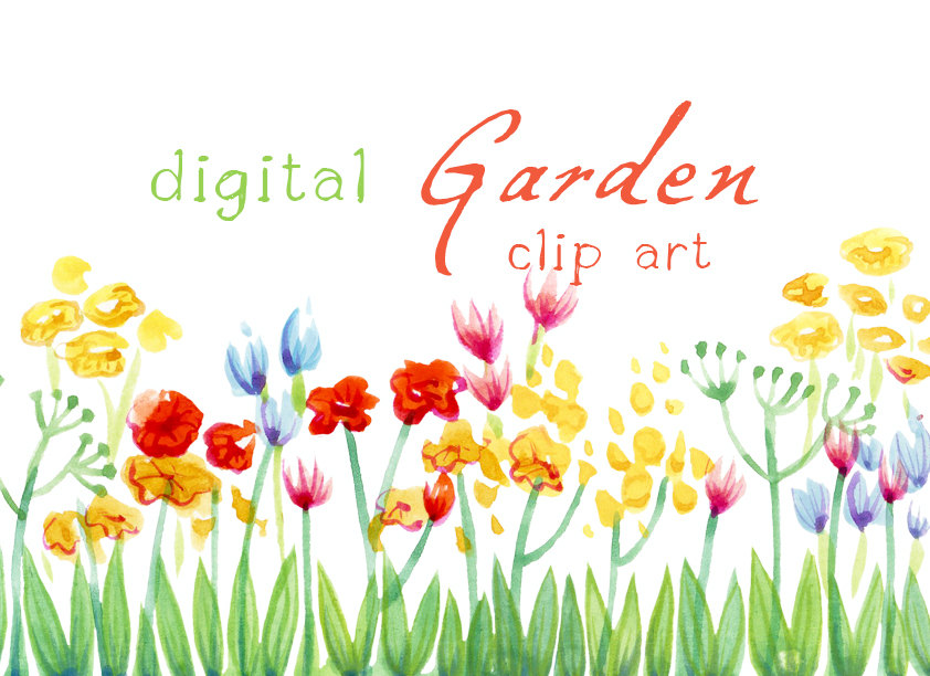 Gate clipart flower bed Garden Spring Cliparts Clipart The