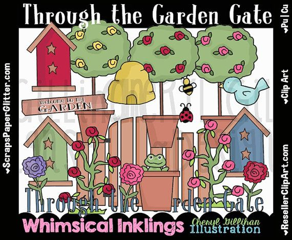 Gate clipart flower garden Use Clip Png Commercial Image