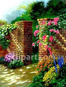 Gate clipart flower garden With Picture and and of
