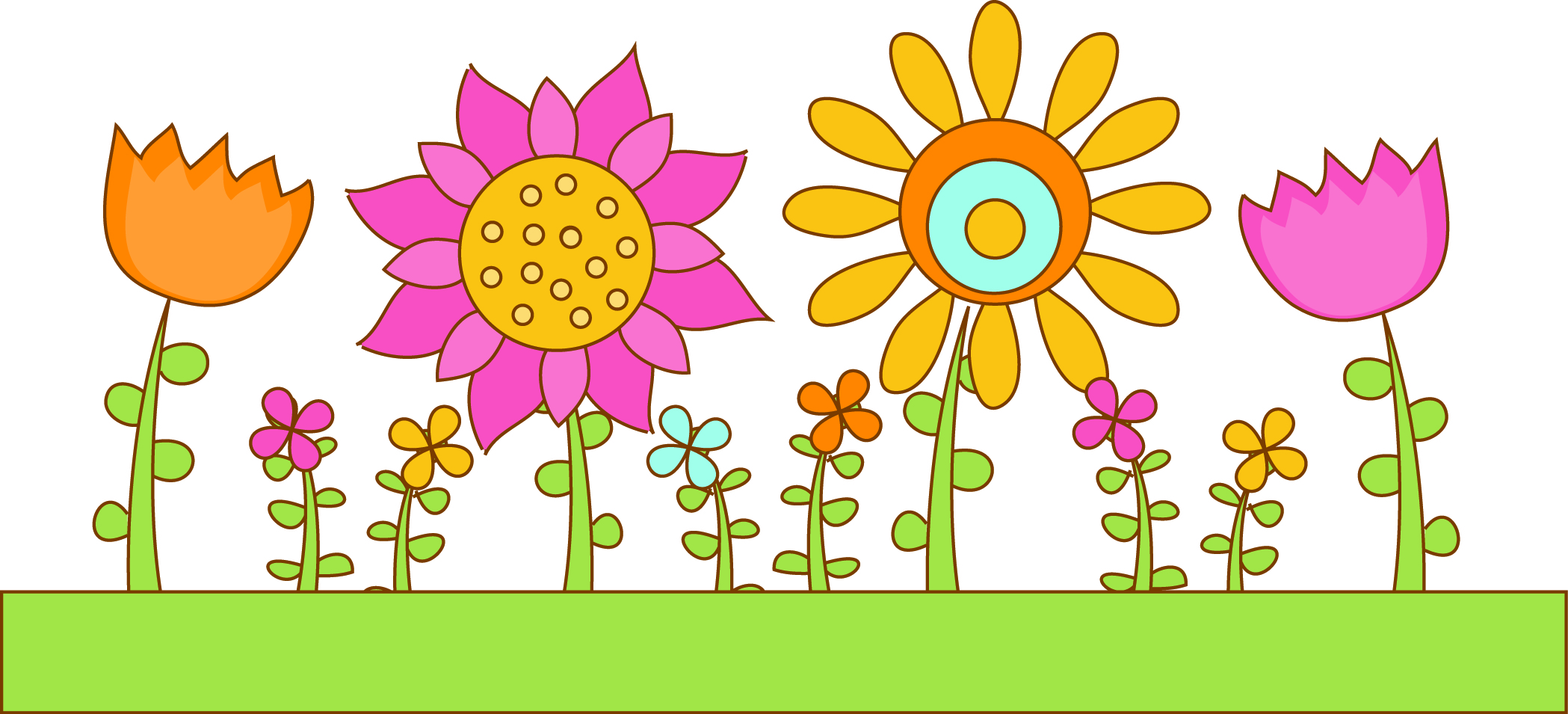 Garden clipart flower garden Cliparts Garden Bed Flower Clipart
