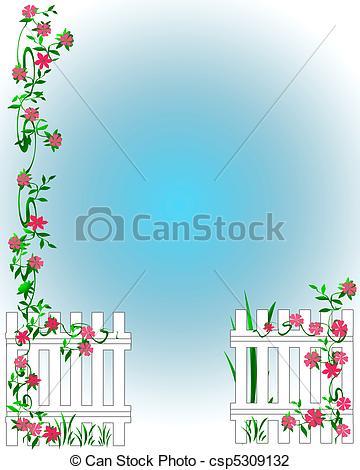 Gate clipart garden frame And gate garden of scrapbook