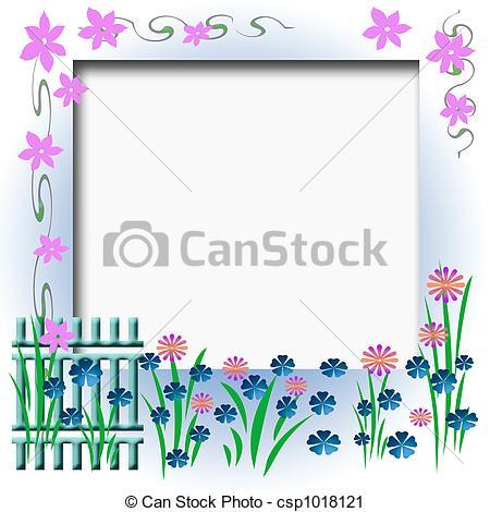 Gate clipart garden frame Illustration  flowers vines and