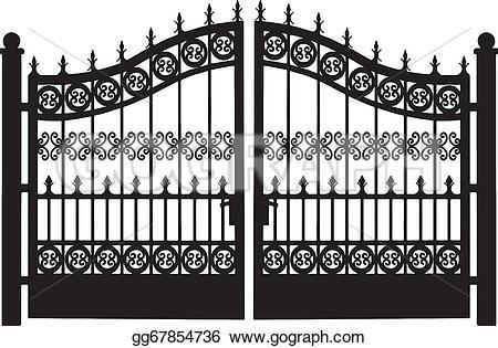 Gate clipart garden plot The EPS to Art Clip