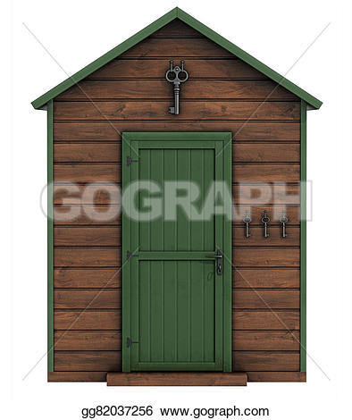 Gate clipart garden shed White 3d gg82037256 backgro shed
