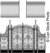 Gate clipart graveyard Gate Cemetery Art and 10