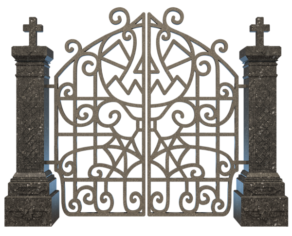 Gate clipart graveyard Graveyard  Gate Image Halloween