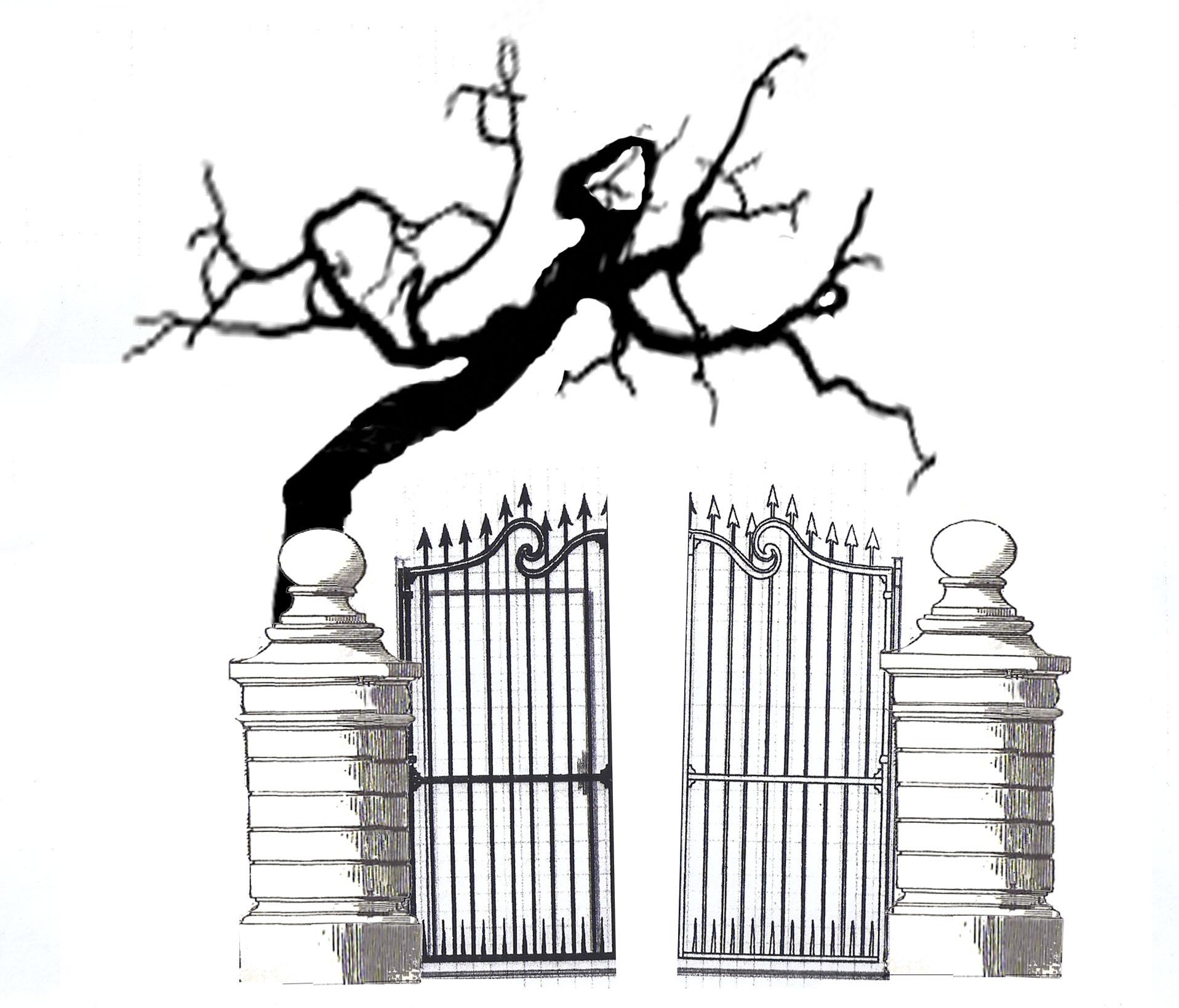 Gate clipart graveyard Gate clip Clipart graveyard (15+)