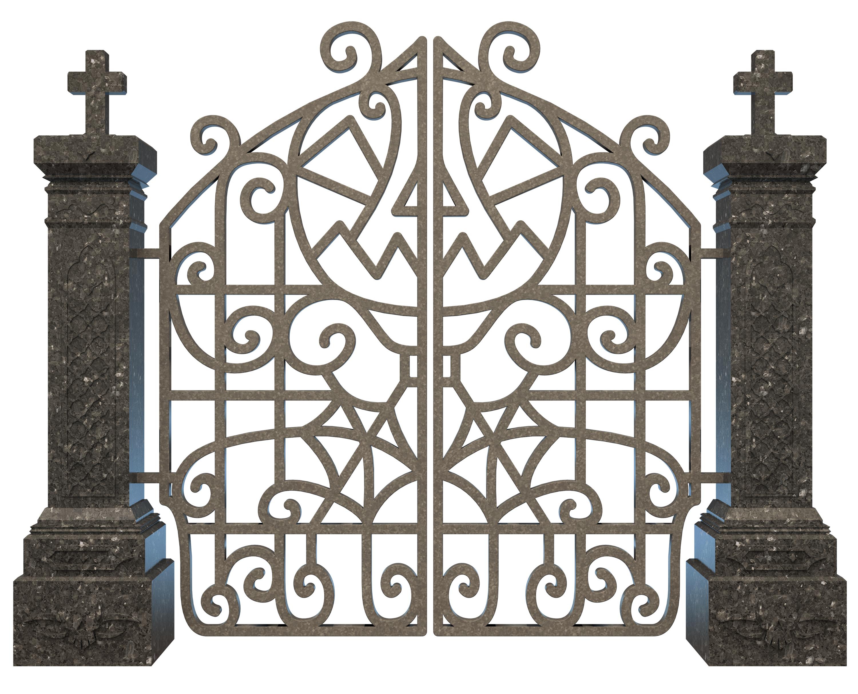 Gate clipart graveyard Full size  PNG View