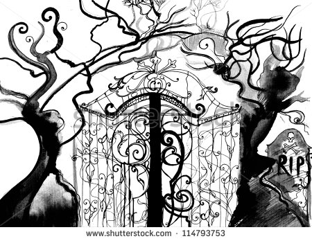 Gate clipart graveyard Gates Clipart China Q4xfoc Cemetery