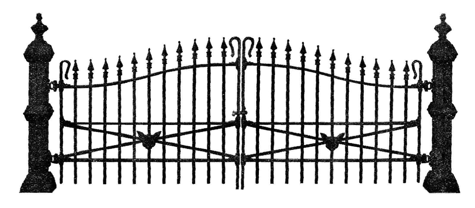 Spooky clipart fence Iron blogspot bp com Art