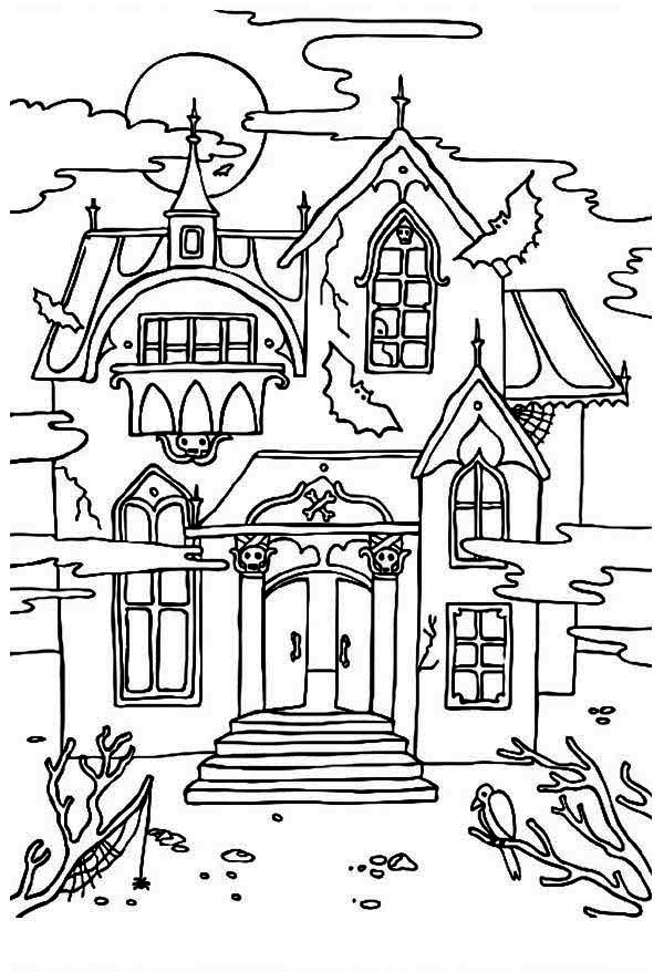 Haunted clipart black and white 126 best Houses? images Pinterest