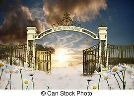 Gate clipart heavenly gate Illustrations an 959 gate heaven