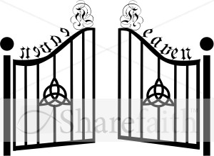 Heaven clipart gates opening Heaven with Inspirational Gates Clipart