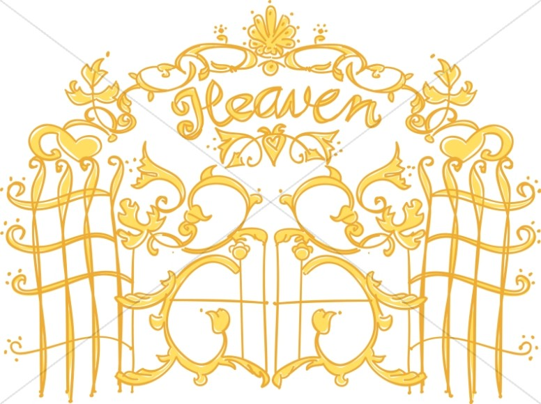 Gate clipart heavenly gate Christian Pearly of Gates of