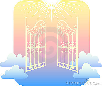 Haven clipart open gate Art magiel Heavenly clipart Illustrations