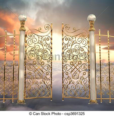 Heaven clipart pearly gates Csp3691325 gates  of Illustrations
