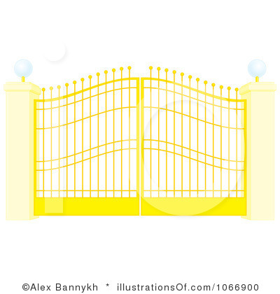 Heaven clipart gates opening Clipart Panda Images Gate Clipart