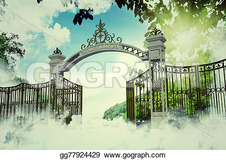 Gate clipart heaven's gate Illustration Heaven Stock Drawing in