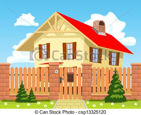 Cottage clipart home and family Wooden the  Vector house
